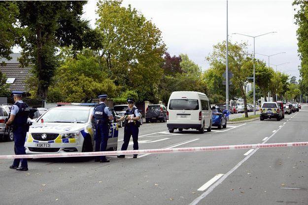 Une voiture de police à Christchurch.