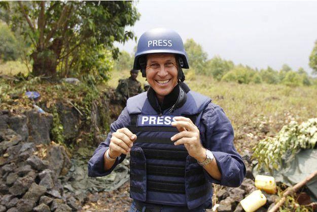 Peter Greste en RDC en 2013.