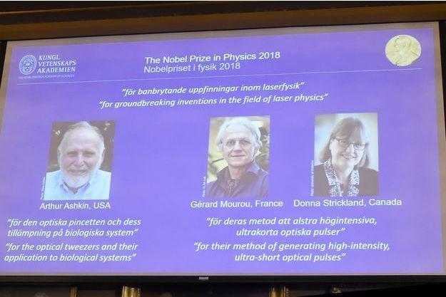 Le Nobel de physique à trois pionniers des lasers.