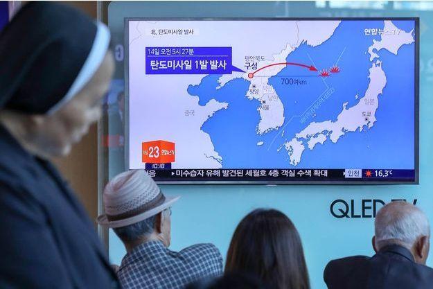Le missile nord-coréen s'est échoué en mer du Japon.