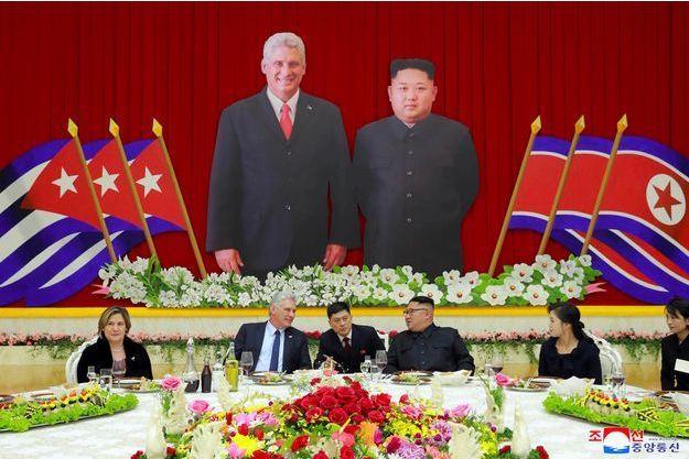 Kim Jong-un, Miguel Diaz-Canel