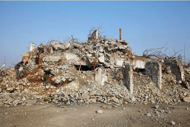 Les ruines d'un bâtiment de Mossoul.