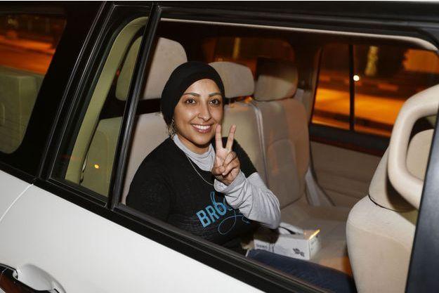 Maryam Al Khawaja lors de sa sortie de prison le 18 septembre.