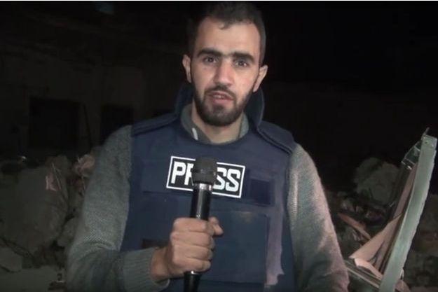 Le reporter syrien Hadi Abdullah