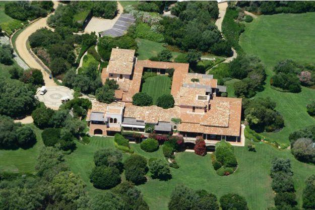 La Villa Certosa, 80 hectares de luxe sur la côte sarde.