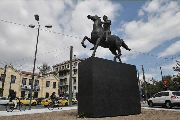 La statue d'Alexandre le Grand à Athènes.