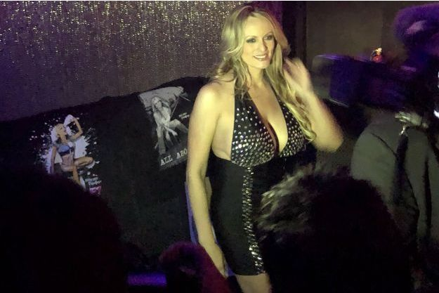 Stormy Daniels au stripclub Gossip, en banlieue de New York.