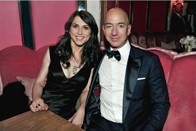 Couple gagnant : Jeff et MacKenzie Bezos à la cérémonie des Oscars, le 26 février 2017. Pour la première fois, Amazon Studios raflait trois statuettes pour deux films produits maison.