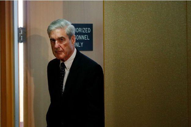 e procureur spécial Robert Mueller mercredi à l'accasion de sa conférence de presse à Washington.
