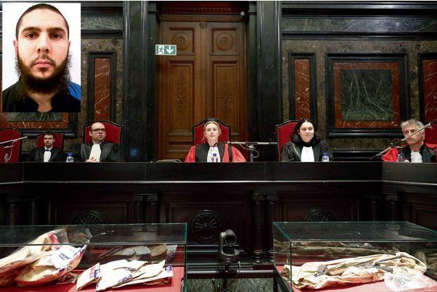 Laurence Massart, présidente de la cour d'assises de Bruxelles, juste avant l'ouverture du procès, le 10 janvier.