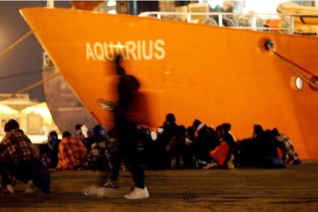 L'Aquarius en janvier 2018