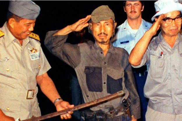 Hiroo Onoda en mars 1974, à sa sortie de la jungle philippine.