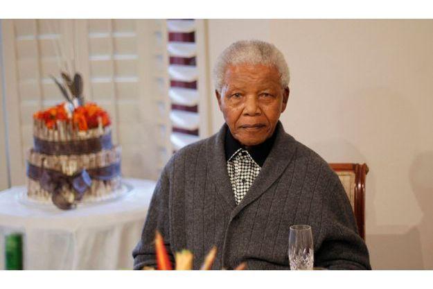 Nelson Mandela chez lui en juillet 2012.