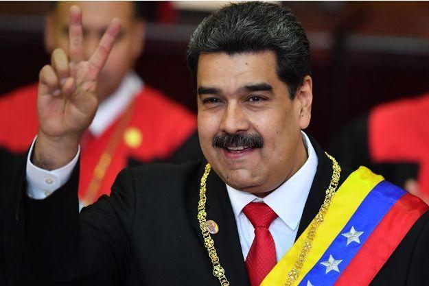 Nicolas Maduro lors de son investiture pour un deuxième mandat.