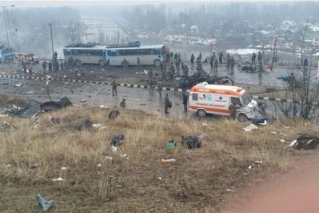L'attentat a été commis dans le district de Pulwama.