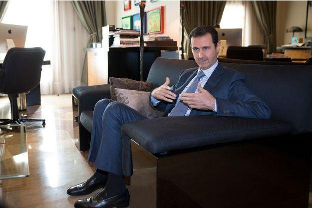 Bashar al-Assad, in Damascus on November 28th