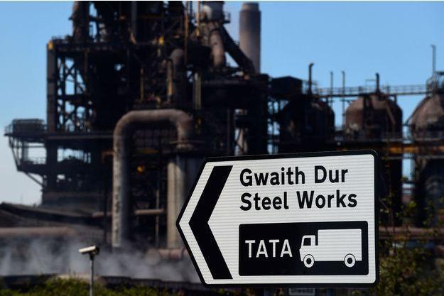 L'usine Tata Steel à Port Talbot, au Pays de Galles.