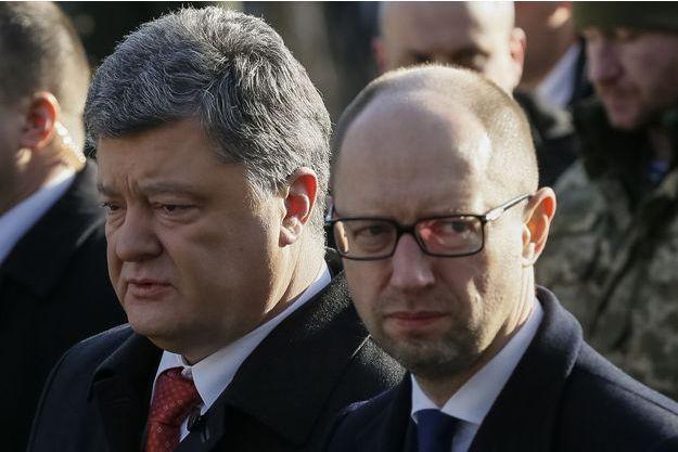 Petro Porochenko et Arseni Iatseniouk