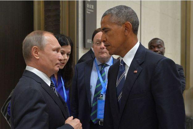 Barack Obama et Vladimir Poutine en septembre dernier.