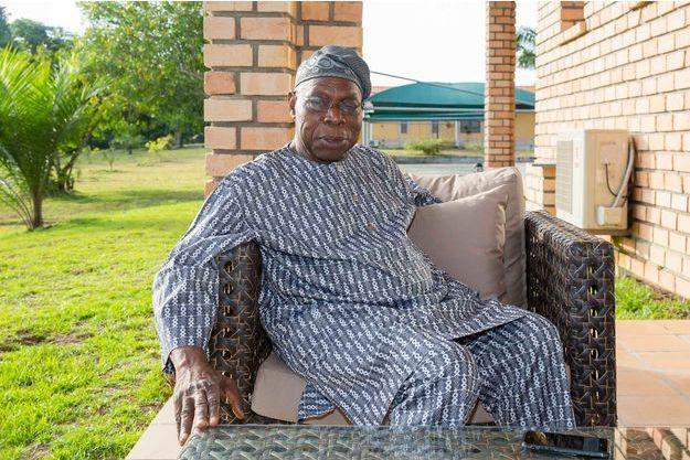 L'ancien président du Nigéria Olusegun Obasanjo, membre du conseil consultatif de la Fondation Brazzaville, le 8 mars 2017
