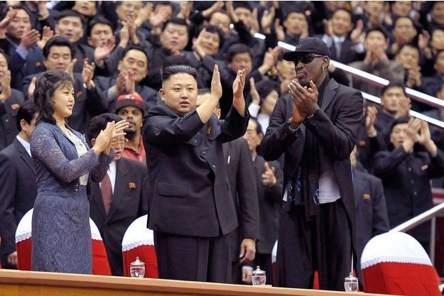 Kim Jong-un et Dennis Rodman le 1er mars 2013.