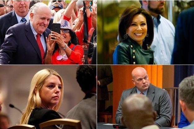 Rudy Giuliani, Jeanine Pirro, Pam Bondi et Matthew Whitaker.