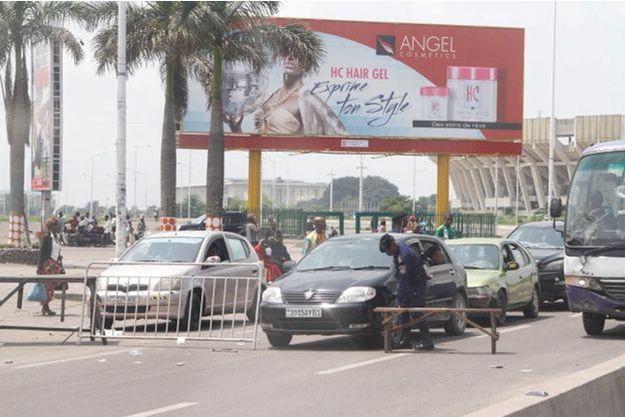 Checkpoint à Kinshasa, le 31 décembre 2017.