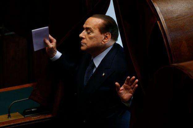 Silvio Berlusconi lors de l'élection présidentielle, le 20 avril dernier.