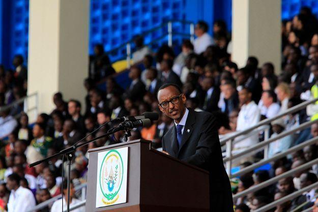 Paul Kagame lors de son discours lundi.
