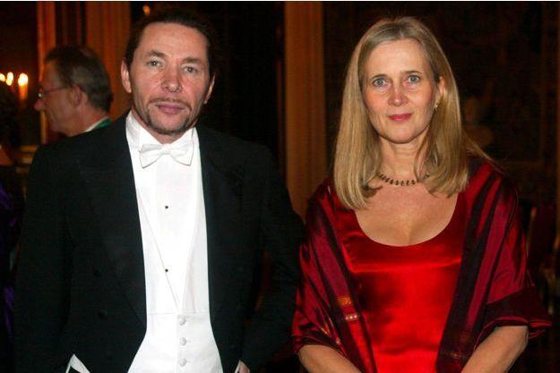 Jean-Claude Arnault avec son épouse Katarina Frostenson en décembre 2001.