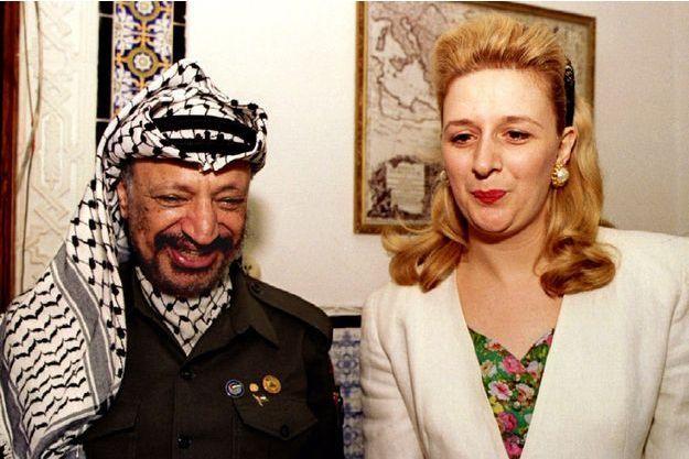 Yasser Arafat et Souha en 1993