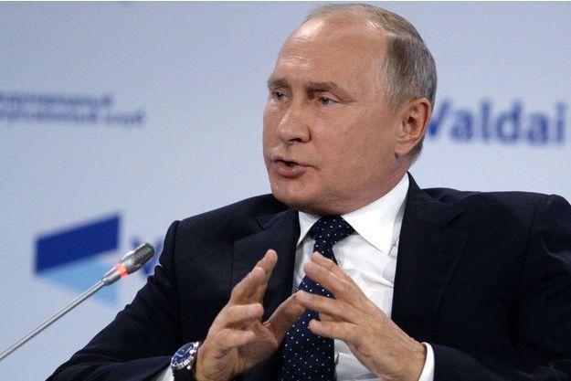 Vladimir Poutine à Sochi, le 18 octobre 2018