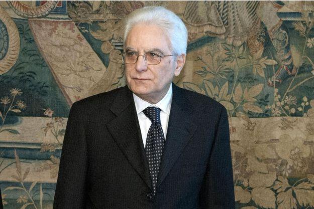 Sergio Mattarelli le 31 janvier, sur une photo fournie par la présidence italienne.