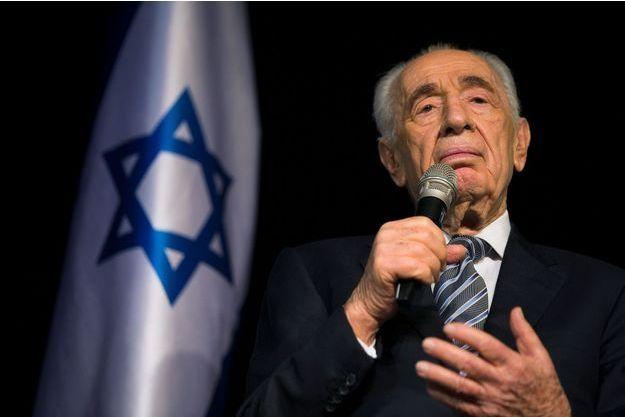 L'ancien président israélien Shimon Peres, en juillet 2014.