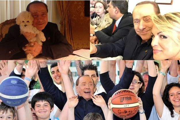 Quelques clichés issus du compte de Silvio Berlusconi.