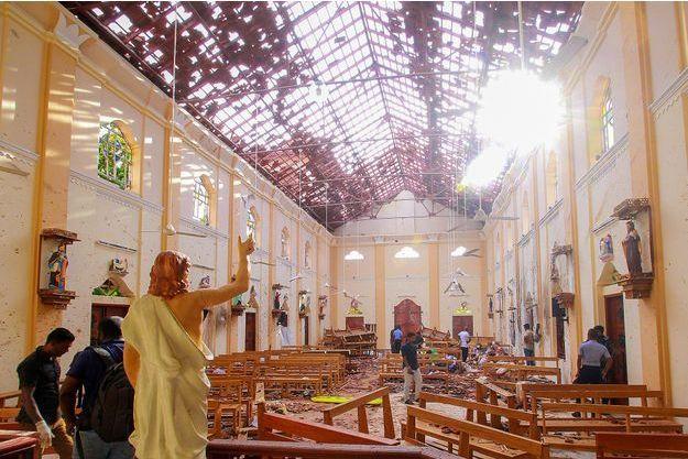 L'église Saint-Sébastien de Negombo a été prise pour cible.