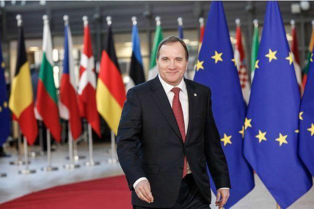 Le Premier ministre Stefan Löfven à Bruxelles.