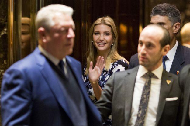 Al Gore et Ivanka Trump à la Trump Tower, le 5 décembre.