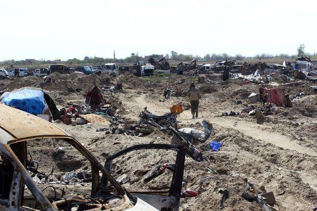Samedi 23 mars. La localité de Baghouz en Syrie n'est plus qu'un champ de ruine.