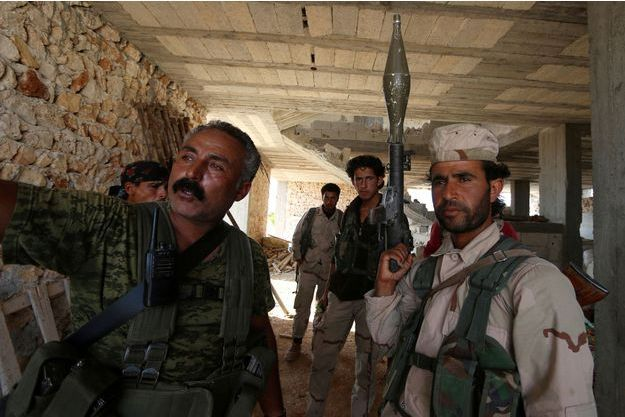 Combattants des Forces démocratiques syriennes.
