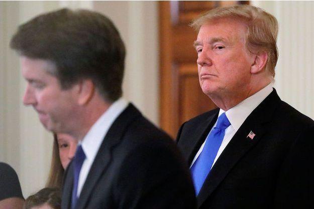 Donald Trump et Brett Kavanaugh à la Maison Blanche en juillet 2018.