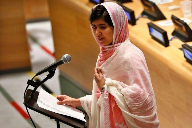 Malala vendredei 12 juillet, devant l'Assemblée de la jeunesse des Nations unies.