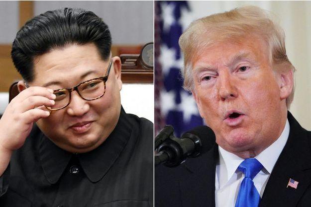 Kim Jong Un et Donald Trump.