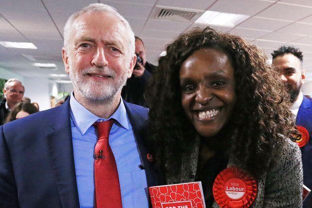 Jeremy Corbyn et Fiona Onasanya en mai 2017.