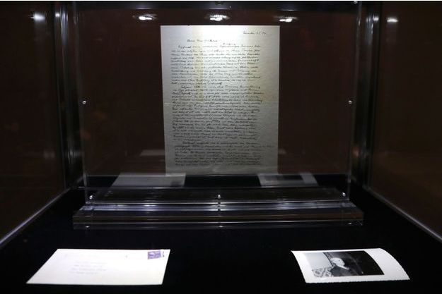 La lettre a été vendue mardi à New York 2,89 millions de dollars.