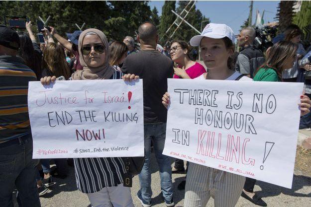 Manifestation en soutien à Israa Ghrayeb, à Ramallah le 2 septembre 2019.