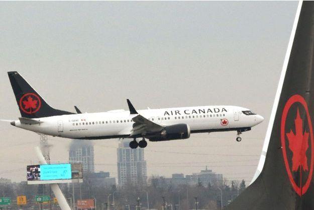 Un avion d'Air Canada, ici à Toronto.