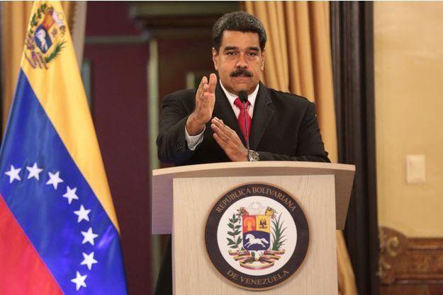 Nicolas Maduro, à la télévision vénézuelienne.