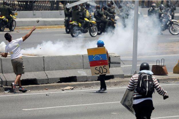 Des partisans de Juan Guaido, à Caracas le 1er mai.