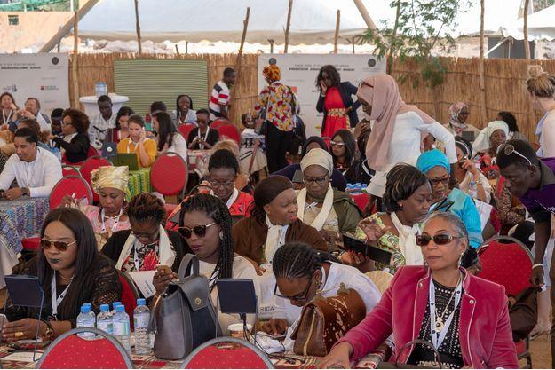 Les entrepreneuses réunies à Toubab Dialaw, le 12 avril.